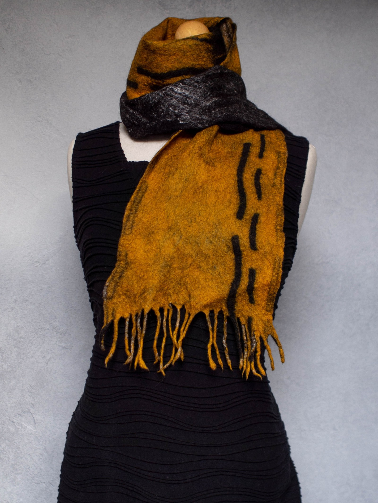 Wet Felted Scarf by Studio Nocta